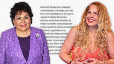 Niurka se disculpa con Carmen Salinas y ella la perdona por dos razones (una tiene que ver con Edith González)