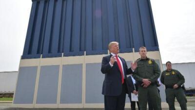 Derribarán los prototipos del muro fronterizo de Trump construidos en California