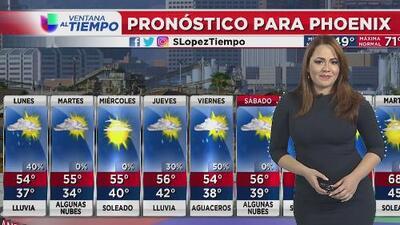 Probabilidad de lluvias para este lunes en Phoenix