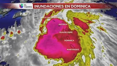 Cómo la tormenta Erika afectó a Dominica y tocará Puerto Rico en las próximas horas
