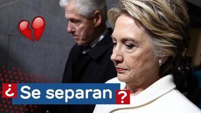 Bill y Hillary Clinton estarían a punto de divorciarse