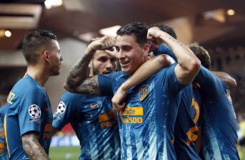 En fotos: Atlético de Madrid echa mano de dos goles en el primer tiempo y vence al Mónaco