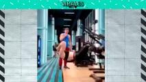 Ella lo humilla con sus abdominales en el Gym