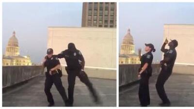 Oficiales de Austin se unen a desafío viral de 'Git Up'