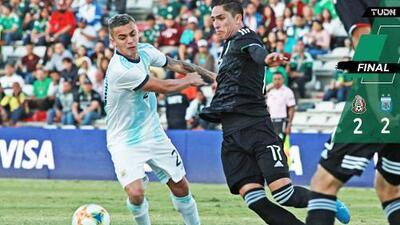 ¿Amistoso? México y Argentina Sub-22 empataron en un juego polémico