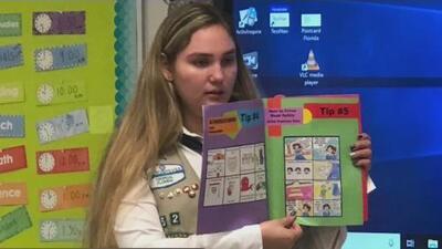 Esta joven de las Girl Scouts creó un cómic sobre seguridad vial para niños y ganó un premio por su contribución