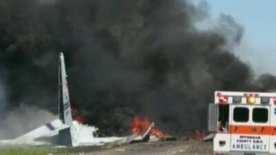 Avión de la Guardia Nacional se estrella cerca del Aeropuerto Internacional de Savannah, Georgia