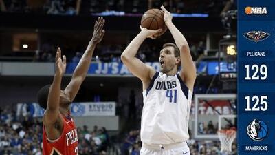 Dirk Nowitzki supera a Wilt Chamberlain entre los máximos anotadores de la NBA