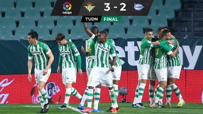 Betis llega a cuatro triunfos consecutivos en LaLiga