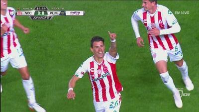 Regalito de Saldívar y Calderón le da el 1-0 a Necaxa