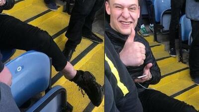 Se fracturó celebrando gol del Leeds de Bielsa y prefirió quedarse al final del partido