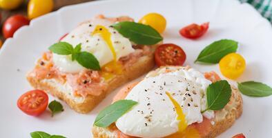 Tostada de salmón ahumado con huevo | Reto 28