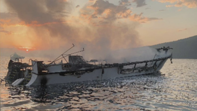 Sube a 25 la cifra de muertos tras incendio de un bote recreacional en California