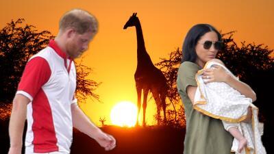 El príncipe Harry cuenta los minutos para salir con Meghan y Archie rumbo a África