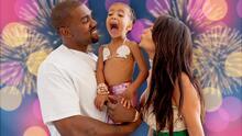 Con fuegos artificiales Kim Kardashian y Kanye West celebran los 7 años de su hija North