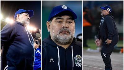 Así vivió Maradona su segunda derrota