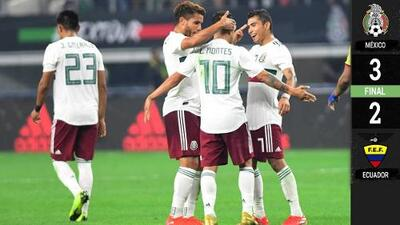 México 3-2 Ecuador - GOLES Y RESUMEN - Amistoso Internacional