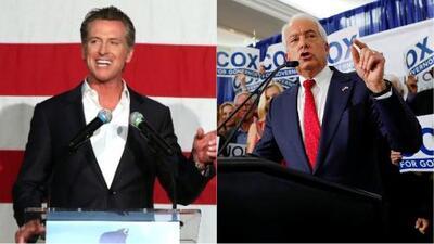 El demócrata Gavin Newsom y el republicano John Cox se enfrentarán por la gobernación de California