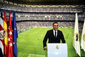 Keylor Navas fue presentado en el Bernabéu