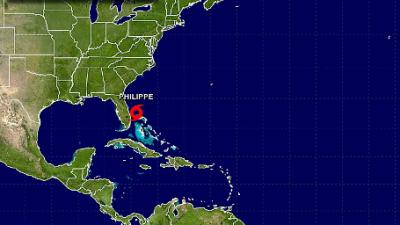 La tormenta tropical Philippe se aleja rápidamente de Florida y se dirige hacia las Bahamas