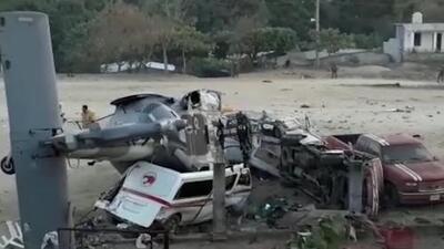 Helicóptero del gobierno mexicano mata a 13 al caer en Oaxaca, el ministro y el gobernador a bordo salen ilesos