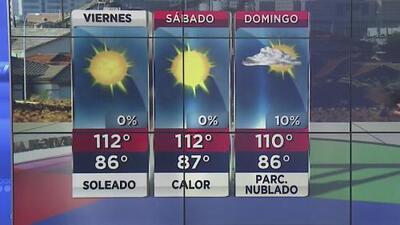 Aviso por calor extremo para este viernes en Arizona