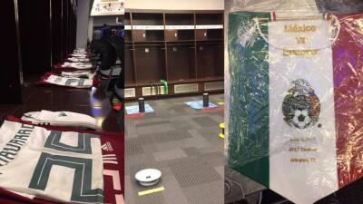 En fotos: la intimidad del Tri en el vestuario de los Dallas Cowboys
