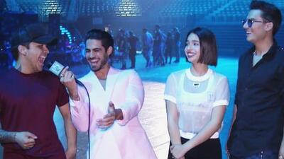 Ángela Aguilar, Christian Nodal y Pipe Bueno están felices de enaltecer la música mariachi en Premios Juventud y lo celebraron con este grito