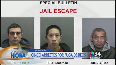 Continúa búsqueda por tres fugitivos en California