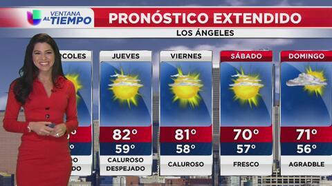 Miércoles con temperaturas frescas en Los Ángeles y vientos variables