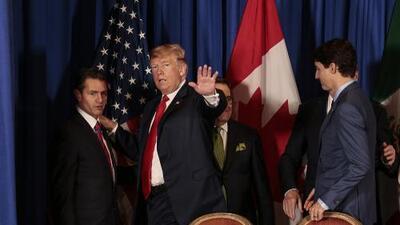 """Trump retoma su amenaza favorita y anuncia que acabará con Nafta """"muy pronto"""""""