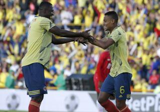 En fotos: Colombia resuelve su amistoso ante Panamá en la primera parte y gana 3-0