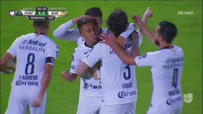 ¡GOOOL! Martín Rodríguez anota para Pumas UNAM