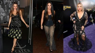 Vestidas de negro estas famosas se ven espectaculares (aunque no todas acierten con el look)