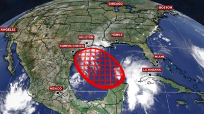 Perturbación tropical que avanza hacia el golfo de México tiene más probabilidades de desarrollarse como tormenta y llegar a Texas
