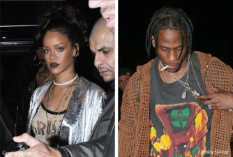 Dicen que Rihanna está bien enamorada de Travis Scott