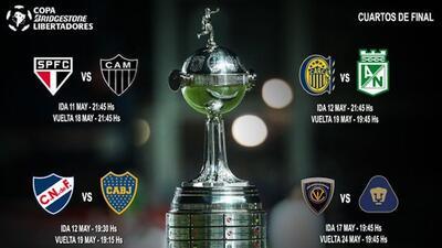 Definen horarios de los cuartos de final de la Copa Libertadores