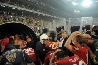 Disturbios en el festejo del Galatasaray