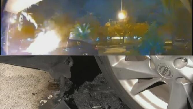 Buscan al responsable de prenderle fuego a dos vehículos en Cutler Bay