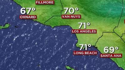 Cielos soleados y condiciones secas, el pronóstico para este lunes en Los Ángeles