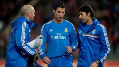 Cristiano Ronaldo sufre una 'lesión' en parte posterior del muslo izquierdo