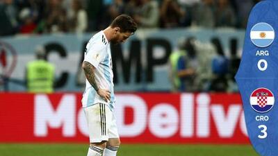 Croacia destrozó a Argentina en el ocaso de Messi con su selección