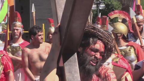 San Antonio es testigo de la tradicional dramatización de la Pasión de Cristo