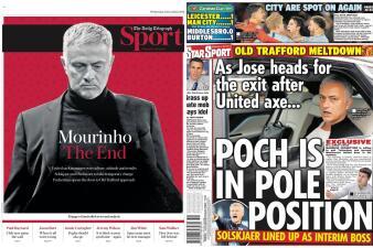 La reacción de medios ingleses tras la salida de Mourinho de Manchester United