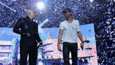 ¡Qué fiesta! Enrique, Pitbull y J Balvin dejaron 'Bailando' a Miami
