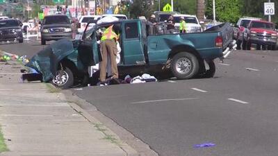 Un bebé y dos adultos mueren en accidente entre un camión de bomberos y una camioneta en Phoenix