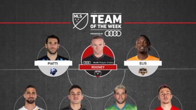 Seis latinoamericanos en un Equipo de la Semana 3 de la MLS comandado por Wayne Rooney
