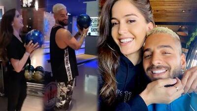 Maluma se ríe del estilo de su novia para jugar boliche, pero el resultado no es el que esperaba
