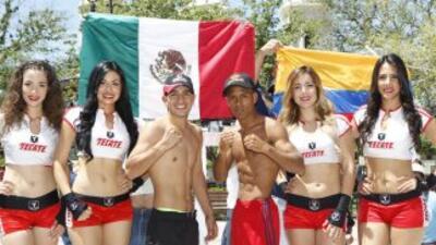 David 'Tornado' Sánchez y Anuar Salas en peso