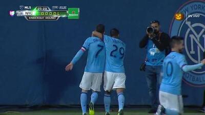 ¡GOOOL! David Villa anota para New York City FC